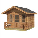 ALEKO WLCPI02-AP Wooden DIY Outdoor Studio-Home Cabin and Cottage Space with Front Porch
