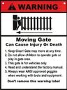 ALEKO WSIGN-AP WARNING Moving Gate Sign - 8 x 10.5 Inches