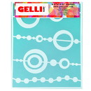 Gelli Arts® Bead Stencil - Designed to print with 8