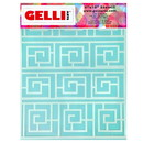 Gelli Arts® Roundabout Stencil - Designed to print with 8
