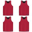GOGO TEAM 4 Pack Reversible Basketball Jerseys, Lacrosse Jersey, Mesh Tank