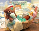 Gift Basket 890111-Y-T Deluxe Welcome Home Precious Baby Basket -Yellow/ Teal