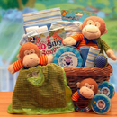 Gift Basket 890312 A New Little Monkey Baby Gift Basket