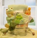 Gift Basket 890472 Little Pollywogs New Baby Bath Tub