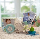 Gift Basket 89052-B Bundle of Joy Baby Carriage -Blue - Medium