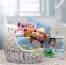 Gift Basket 89062-B Welcome Baby Baby Bassinet - Blue - Medium