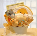 Gift Basket 89092-Y Bath Time Baby Medium Yellow