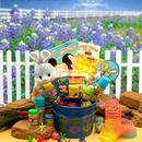 Gift Basket 914231 Little Bunny Blue Easter Fun Pail