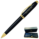 Cross GP-119 Cross Townsend Black Laquer Ballpoint Pen with Gold Plated trim