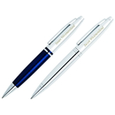 Cross GP-1229 Calais Blue and Chrome Double Ballpoint Pen Set