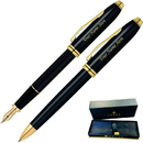 Cross GP-1282 Townsend Black Lacquer Fountain and Ballpoint Pen Set