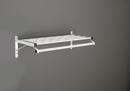 Glaro Modular, Rugged All Aluminum Clothing Racks 1 Shelf w/ Hanger Bar Satin Aluminum