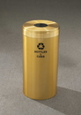 Glaro B-1242 Recycling Receptacle - Value Series - Recyclepro Single Stream - Bottles And Cans Opening 5.5