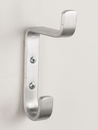 Glaro Wall Hook, 1 Double Hook Satin Aluminum, H12SA