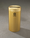 Glaro P-1242 Recycling Receptacle - Value Series - Recyclepro Single Stream - Paper Opening 2.5