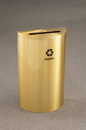 Glaro P1899V Recycling Receptacle - Value Series - Recyclepro Single Stream - Half Round Collection - Paper Opening