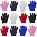 12 Pairs Toddler Winter Warm Gloves Wholesale Kids Magic Stretchy Knit Gloves