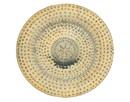Godinger 11705 14 Brass Finish Round Tray