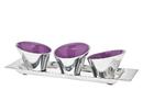 Godinger 12342 Primary Colors Tray 3 Bowl Vio