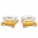 Godinger 14880 Console Gold Accented Candlestick - Pair