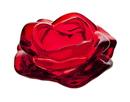 Godinger 14893 Rose Pillar Holder - Red