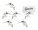 Godinger 1608 Dolphin Place Card Holders S/6