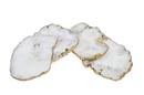 Godinger 16603 S/4 White Quartz Csrts Brs Edg