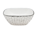 Godinger 16643 White Weave Bowl Medium