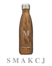 Godinger 19255 Teakwood Water Bottle Monogram