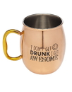 Godinger 19441 Mosco Mule i Get Awesome20oz