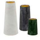 Godinger 19538 S/3 Marble Votive Holders