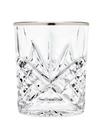 Godinger 25436 Dublin Set of 4 Double Old Fashioned Glasses - Platinum