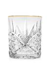 Godinger 25441 Dublin Set of 4 Double Old Fashioned Glasses - Gold Banded