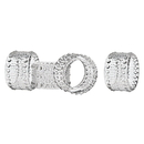 Godinger 42302 Lumina S/4 Napkin Rings
