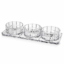 Godinger 49266 Radius 4 Piece Relish Set