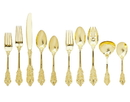 Godinger 50259 65 Pc. Baroque Flatware - Gold