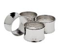 Godinger 55102 Hmmrd Concave Napkin Rings S/4