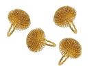Godinger 55109 S/4 Gold Aster Napkin Rings
