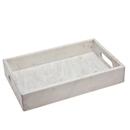 Godinger 61846 White Marble Rect Tray 16 X 12
