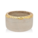 Godinger 61861 Stone Bowl With Gold Edge