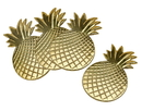 Godinger 62010 S/4 Gold Pineapple Coasters