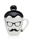 Godinger 62116 Manbun Hipster Man Mug