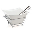 Godinger 6381 Piazza Salad Bowl & Servers