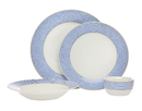 Godinger 64047 16pc Gustav Dinnerware Blue