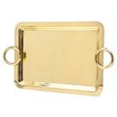 Godinger 64271 Rect Handled Tray 24 X 19 Gold
