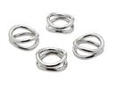 Godinger 6430 Ellipse S/4 Napkin Rings