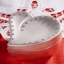 Godinger 648 Heart Box Stones Satin