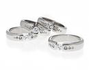 Godinger 67094 Diamond Band Napkin Rings Set of 4