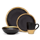 Godinger 70110 Golden Onyx 4 Piece Dinner Set