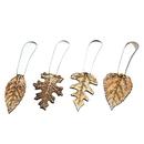 Godinger 70963 S/4 Spreaders Leaf Handl/Brass
